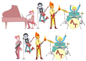 Marshall Lee and the Scream Kings by dettsu