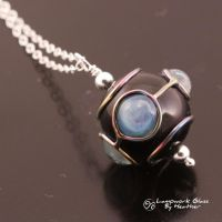 Opal Blue Pools Pendant2 by booga119
