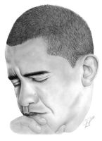 President Barack Obama by PortraitPencilArt