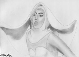 Lady Gaga Sketch by ClefairyKid