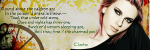 Clotho - Spinner of the thread - Siggy by blackhavikgraphics