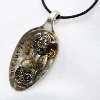 Steampunk Resin Spoon Pendant by Create-A-Pendant