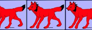 Azazel as a Red Wolf by PiccoloFreakNamick