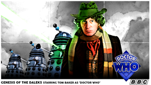Genesis Of The Daleks (70's Movie Poster style) by JaseTheAvenger