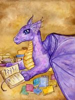 The Bookwyrm by Starrydance