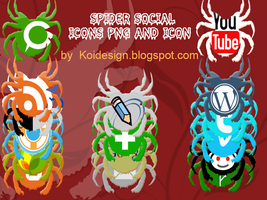 Spider social icons pack by koidesign