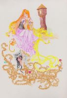 Rapunzel major work- final by fireburner543