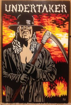 Undertaker Duct Tape Art by DuctTapeDesigns