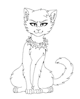 Bloodclan Cat Lineart by Klaracrystalpaws