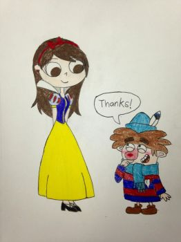 Snow White (Me) and Sneezy by HimeRoseChibiChan