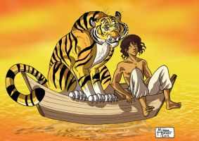 Richard Parker and Pi by RUNNINGWOLF-MIRARI