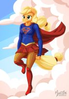 Applejack as Supergirl by mysticalpha