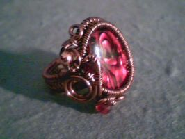 Red Abyss - Adjustable Ring by Carmabal