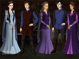 The Family Game-of-Thrones-Azaleas-Dolls by InvisibleDorkette