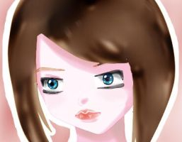 Girl with brown hair (Test) by Chibifrijja