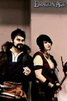 Modern Hawke and Morrigan Cosplay by DirtyMannequin