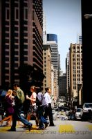 A busy San Fransisco street. by kooksgallery