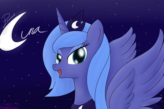 Princess Luna by MikorutheHedgehog