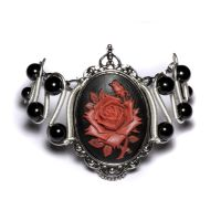 Steamgoth Red Rose Bracelet by CatherinetteRings