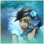 le chat bleu by roserika