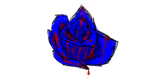 Bloody blue rose by teddy529