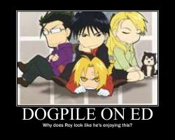 Dogpile on Ed by cutebutdeadlychan