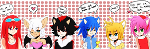 { Sonic Adventure 2 Battle - Gijinkas } by StarlitSagittarius