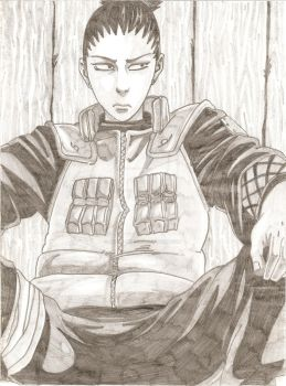 Shikamaru - 'What A Bother' by JdotK-Sketch