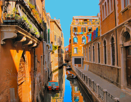 Venice Narrow Canal by JJPoatree