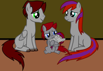Amy and Star Bolt with their Mother and Father by Imp344