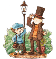 Professor Layton by Marmaladecookie