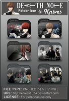 Deathnote Anime Folder Icon by Knives by knives1024