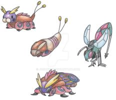 Ground Moth Pokemon by JoshKH92
