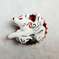 Amaterasu Bottle Cap Sculpture by LeiliaClay