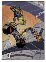 Judge Dredd -Road Rage -With Mean Machine by GibsonQuarter27