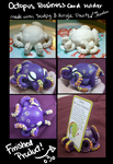 Sculpy Octopus Business Card Holder by iMandarr