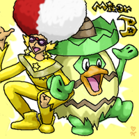 Miror B and Ludicolo by Jaydeis