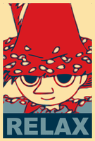 Snufkin for president by brokenbiskits