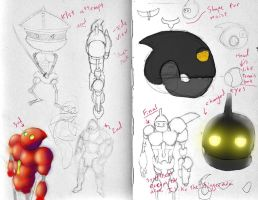 Animation Robot Character Design by itokyoshoes