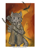 Hobbit - Bard the Bowcat by caycowa