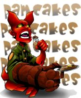 Hellboy Pamcakes Colored by Dreekzilla