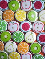 Fruity Button Wall by pookat