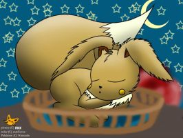 dreaming cuteEevee by cuteEevee