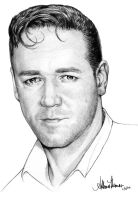Russell Crowe Sketch by AthenaTT