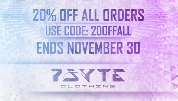 20% OFF all Psyte Clothing Orders by PsyteClothing