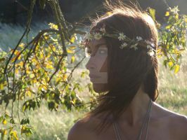 Girl With Daisies (In her hair) by alphanathan