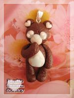 Choco-bear necklace by Galadriel89