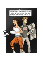 Companion Cube (human): Protection by Comedic44