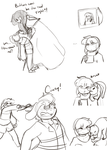 Some more Charaline stuff cause why not by Channydraws