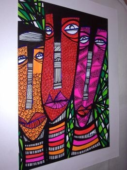 3 faces by Missrlola
